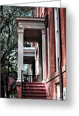 Red Stairs Greeting Card by John Rizzuto