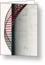 Red Steps On Tank Greeting Card