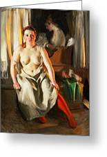 Red Stockings Greeting Card