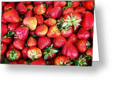 Red Strawberries Greeting Card