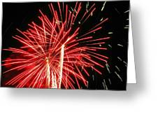 Red Streaks In The Night Greeting Card