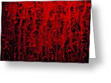 Red Streaks Greeting Card