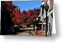Red Street Greeting Card