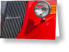 Red Streetrod Greeting Card