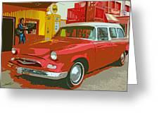Red Studebaker Greeting Card