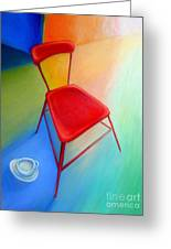 Red Studio Chair Greeting Card
