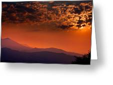 Red Sumer Sunset Greeting Card