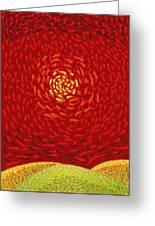 Red Sun Greeting Card by Sergey Khreschatov