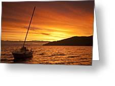 Red Sunrise Greeting Card