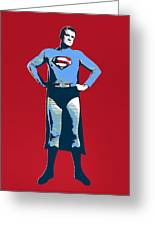 Red Superman Greeting Card