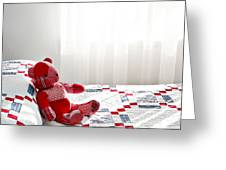 Red Teddy Bear Greeting Card