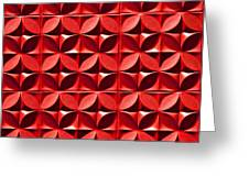 Red Textured Wall Greeting Card