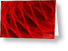 Red Threads  Greeting Card