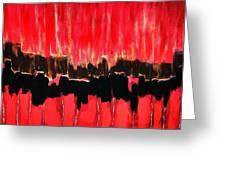 Red Thunder Clash II Greeting Card