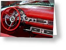 Red Thunderbird Dash Greeting Card