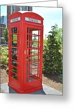 Red Token Booth Greeting Card