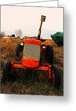 Red Tractor 2 Greeting Card