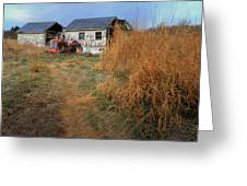 Red Tractor 5 Greeting Card