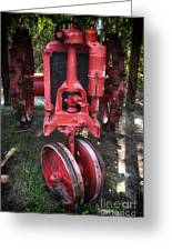 Red Tractor Greeting Card by John Rizzuto