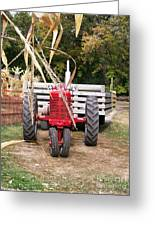 Red Tractor Ready To Roll Greeting Card
