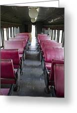 Red Train Seats Greeting Card