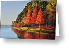 Red Trees Greeting Card