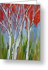 Red Trees Of Autumn Greeting Card