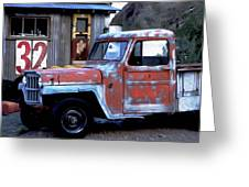 Red Truck 32 Greeting Card