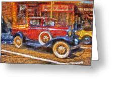 Red Truck Photo Art Greeting Card