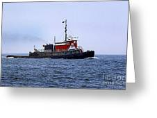 Red Tug Greeting Card