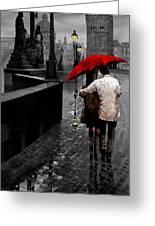 Red Umbrella 2 Greeting Card