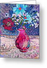 Red Vase IIi Greeting Card by Diane Fine