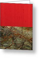 Red Veins Greeting Card