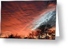 Red Velvet Sky Greeting Card