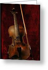 Red Violin Greeting Card