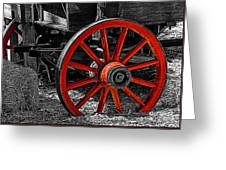 Red Wagon Wheel Greeting Card