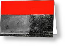 Red Wall In Black And White Greeting Card