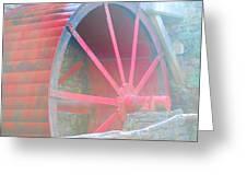 Red Wheel Greeting Card by Lorena Mahoney