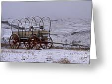 Red-wheeled Wagon   #0662 Greeting Card