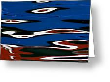 Red White And Blue Iv Greeting Card