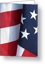 Red White And Blue Greeting Card by Laurel Powell