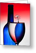 Red White And Blue Reflections And Refractions Greeting Card by Susan Candelario