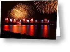 Red  White Boom Greeting Card