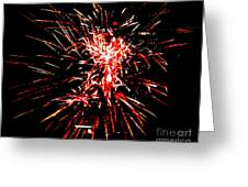 Red White Greeting Card