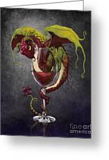Red Wine Dragon Greeting Card