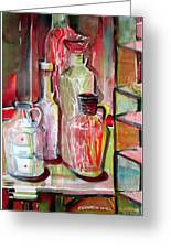 Red Wine Vinegar Greeting Card by Mindy Newman