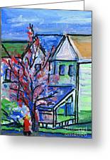 Redbud Tree At West Cape May Greeting Card