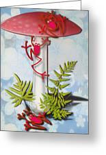 Redfrog And The Magic Mushroom Greeting Card