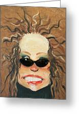 Ginger In Sunglasses Greeting Card