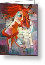 Redhead Greeting Card by Jennifer Croom